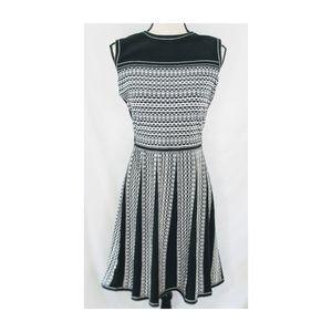 Ann Taylor Factory Knit Dress, BK/White, XL.